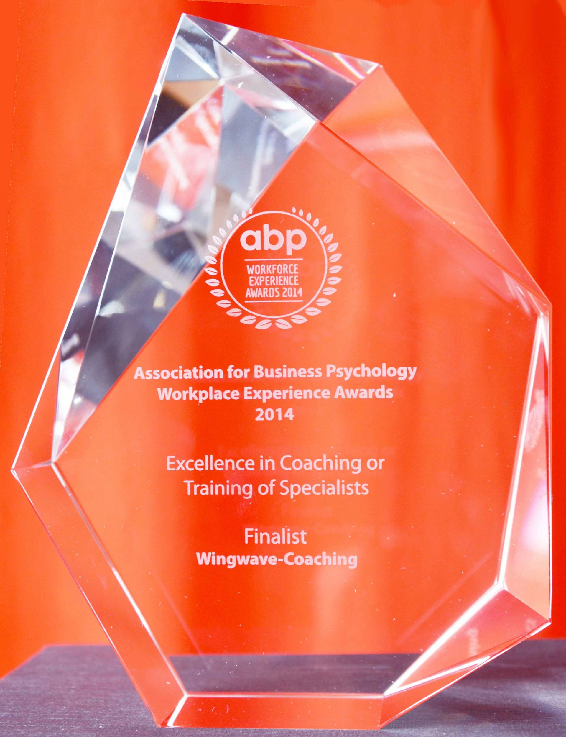 La formation de coaching wingwave reconnue par l'association for Business Psychology Workplace Experience Awards 2014